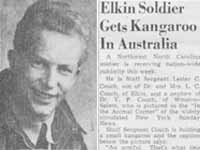 Elkin Soldier Gets Kangaroo in Australia
